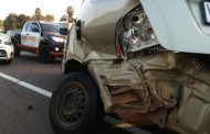 Fortunate escape from injury in road crash on N1 North before Stormvoel Road
