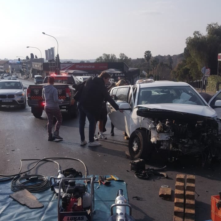 Two injured in collision in Craighall