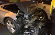 Fortunate escape from injury in collision in Fourways