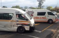 Two injured in Nelspruit taxi collision
