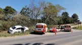 Driver and pedestrian treated after road crash on the P200, Margate