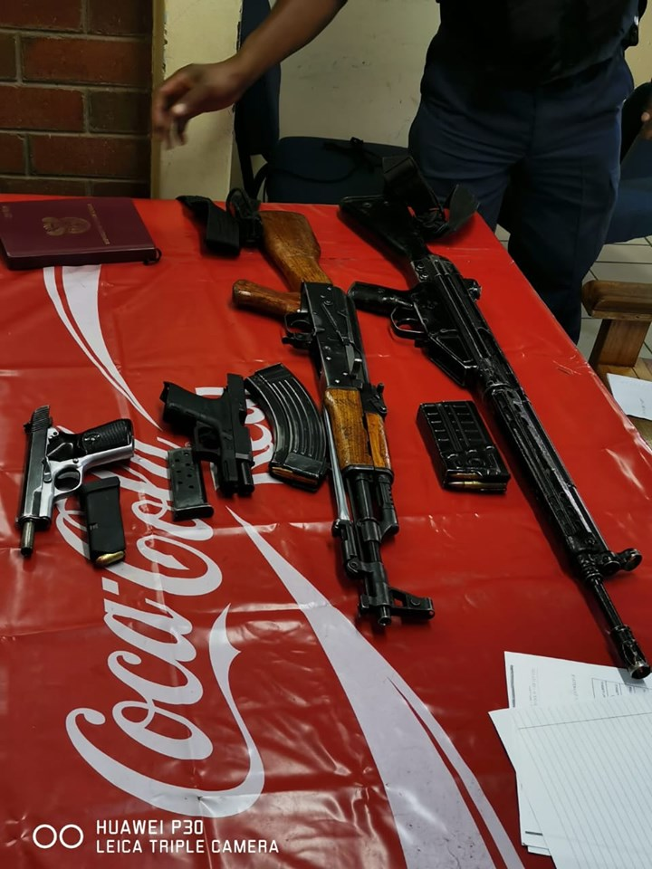 Firearms seized during cemetery shooting