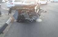 Two-vehicle collision in Fourways