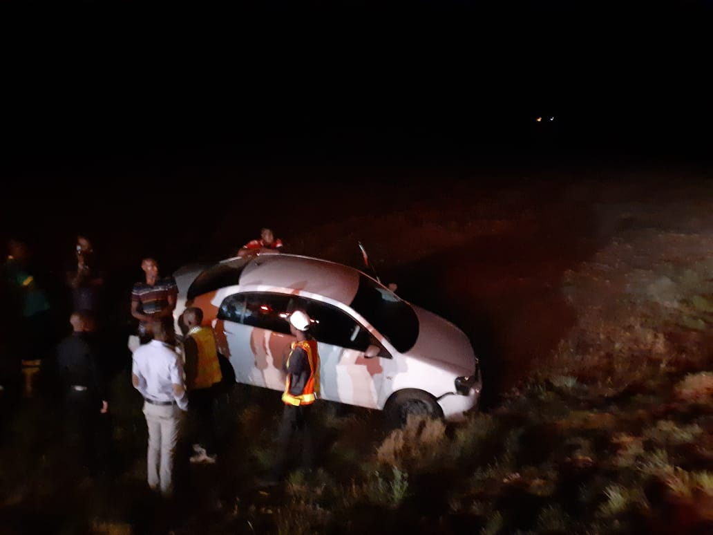 One vehicle collision on the N3