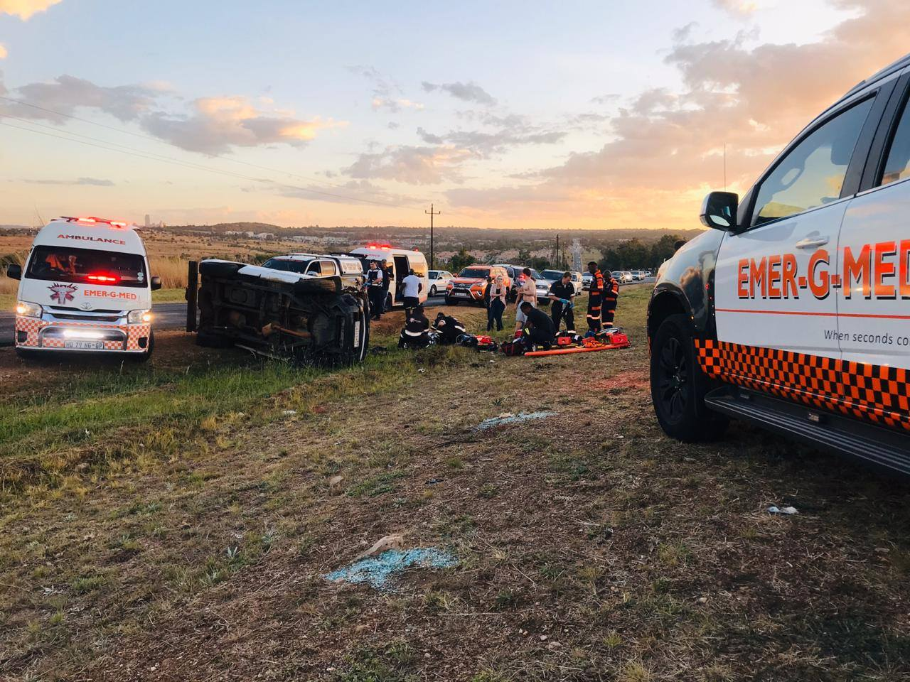 Four injured in collision in Kyalami