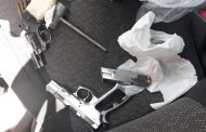 Suspect arrested for business robbery and possession of two unlicensed firearms