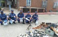 Gauteng police uncover arms cache consisting of more than 40 various high calibre firearms and over 2000 ammunition rounds in Vanderbijlpark