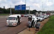One person injured in minibus rollover on the N1, Pretoria
