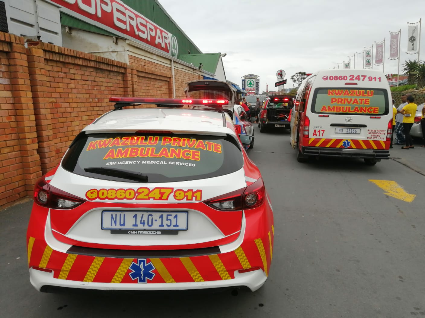 Person revived with CPR after collapsing outside Spar in Shelley Beach