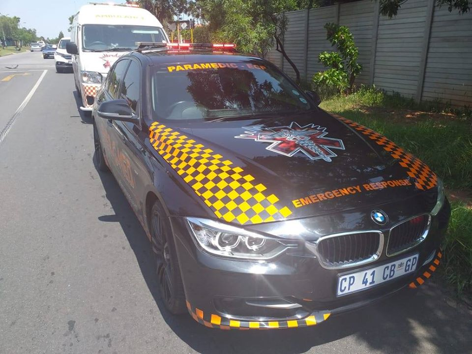 Vehicle collision in Roodepoort