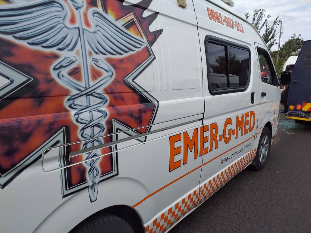 Two injured in collision at Valkfontein