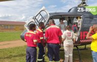 Patient airlifted from collision on the Peinsrand Road.