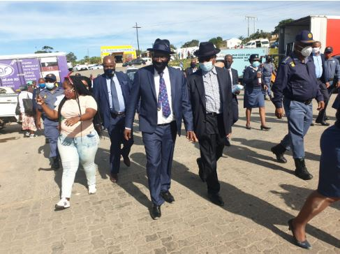 Police minister on a fact finding mission in the Umzumbe municipal area.