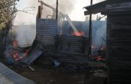 Wood and iron home destroyed in a fire in Waterloo - KZN
