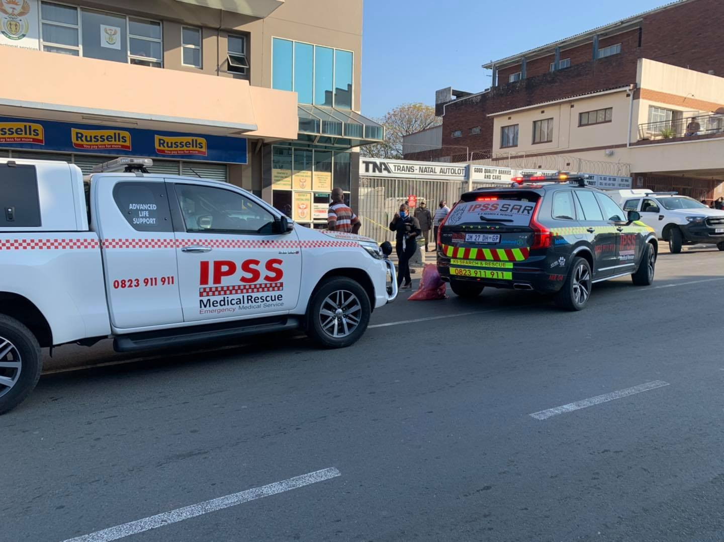 Two dead in a double shooting in Stanger CBD