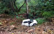 Single vehicle  rollover crash on Kloof Falls Road in Kloof.