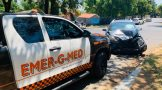 Two injured in a collision in Bryanston