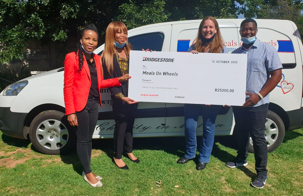 Bridgestone, Supa Quick, customers deliver hundreds of meals ahead of World Food Day