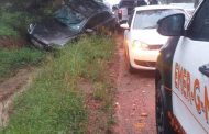 Fortunate escape from injury in a road crash in Midrand