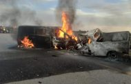 Drivers burn beyond recognition in fiery head-on crash, Polokwane