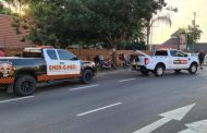 Fortunate escape from injury in a road crash on Centurion