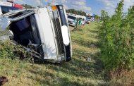 Road crash on the M1 northbound Booysen offramp, Ormonde, Johannesburg