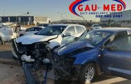 Road crash on the R23 at the Serengeti traffic lights, Kempton Park