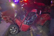 Vehicle rolls multiple times, one dead - M4 Hilltop