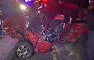 Vehicle rolls multiple times, one dead - M4 Hilltop