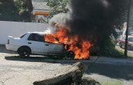 Vehicle destroyed in a fire in Phoenix, KZN