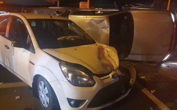 Fortunate escape from injury in a road crash in Beyers Park