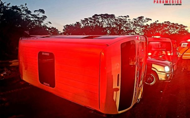 Several commuters injured in a taxi rollover on the N3 Pietermaritzburg bound near the M7 in Pinetown.
