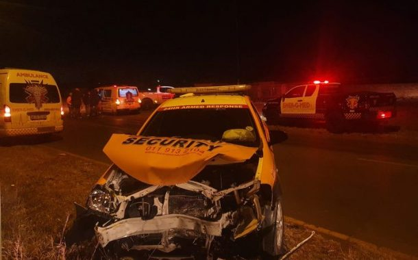 Three injured in a collision in Windmill Park