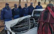 Intelligence-led information resulted into the seizure of copper cable, bakkie and one arrest effected