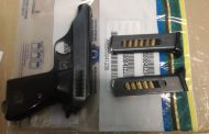 Police members recovered two firearms with ammunition