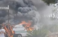 Vehicle fire in Polokwane City, Limpopo